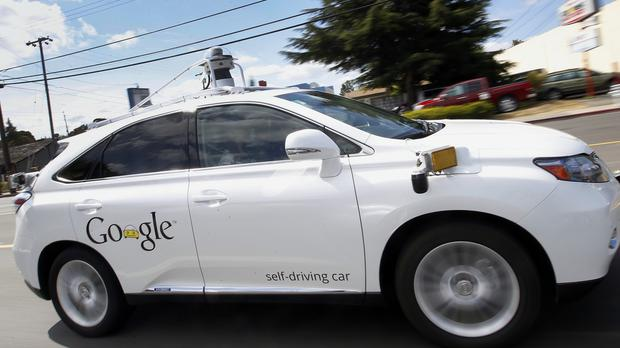 A Google self-driving Lexus is demonstrated at the company's campus in Mountain View, California (AP)