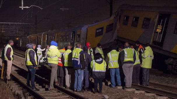 Doctors are treating people injured in a train crash in South Africa