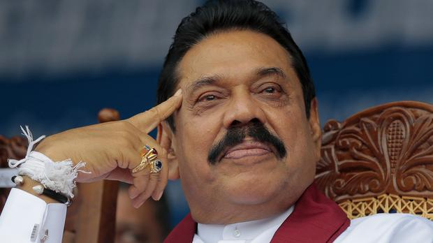 Former Sri Lankan strongman Mahinda Rajapaksa is launching a political comeback (AP)