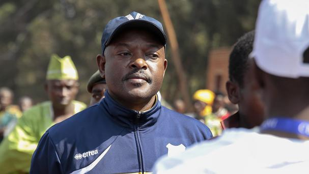 Burundi president Pierre Nkurunziza is widely expected to win a disputed third term in office (AP)