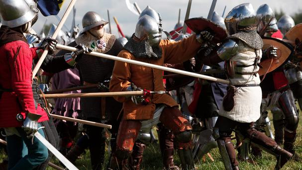 A re-enactment of the Battle of Agincourt took place in France (AP)