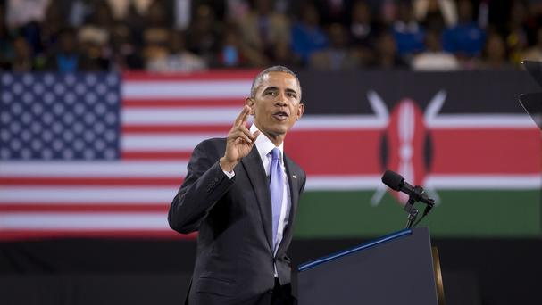President Barack Obama is the first sitting US president to visit Kenya and Ethiopia (AP)