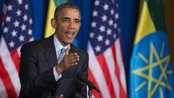 President Barack Obama has called for peace in South Sudan during a visit to Ethiopia. (AP)