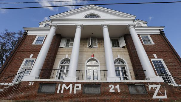 The Phi Kappa Psi house at the University of Virginia in Charlottesville (AP)