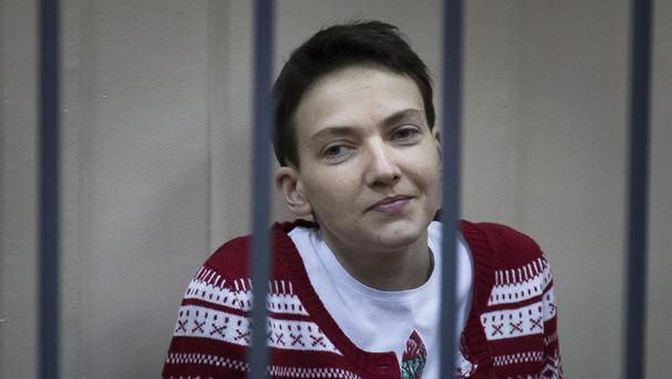 Nadezhda Savchenko appeared in court for a pre-trial hearing. (AP)