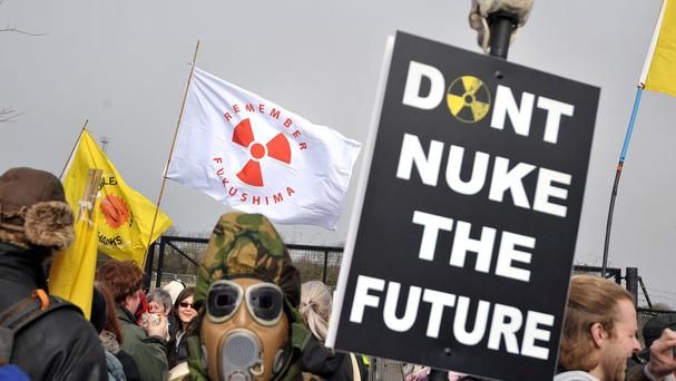 Anti-nuclear protests were held in the UK in the wake of the Fukushima nuclear disaster