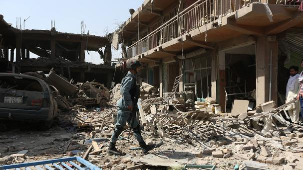A truck bomb in a residential area of Kabul killed 15 people and wounded more than 200 (AP)
