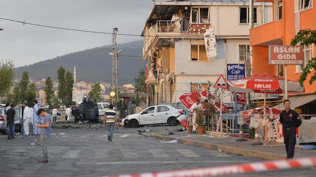 Five police officers were killed on Monday following a number of attacks in Turkey