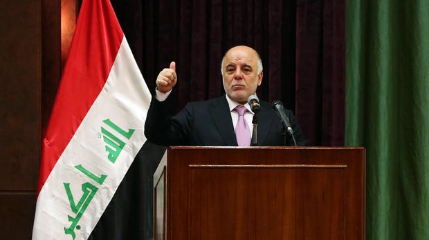Iraqi prime minister Haider al-Abadi said he believes the current constitution is 'incomplete' (AP)