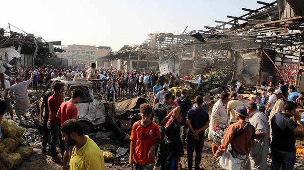 The bomb exploded in the Jameela market in Baghdad's crowded Sadr City neighbourhood