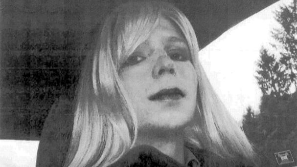 Chelsea Manning , formerly known as Bradley Manning, could be placed in solitary confinement indefinitely for allegedly violating prison rules (US Army/AP)