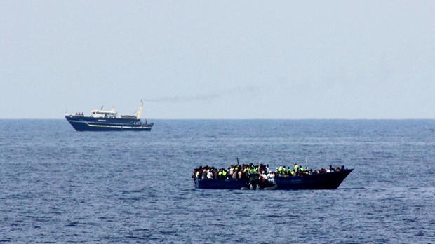 At least 40 migrants have been found dead in the hold a ship in the Mediterranean.