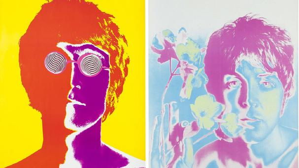 Among other items being sold in the auction are a set of psychedelic posters of the band (AP)