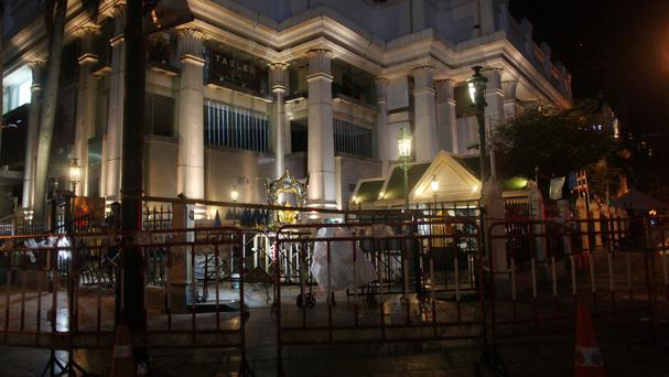 Erawan Shrine, the site of the deadly bombing, in central Bangkok (AP)