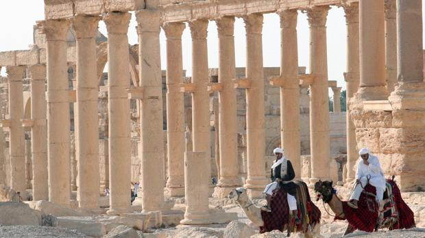 Militants have reportedly blown up part of the Unesco World Heritage Site at Palmyra (AP)