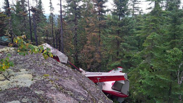 The seaplane crashed during a sightseeing trip in the Les Bergeronnes area of Quebec province. (Transportation Safety Board of Canada / PA)