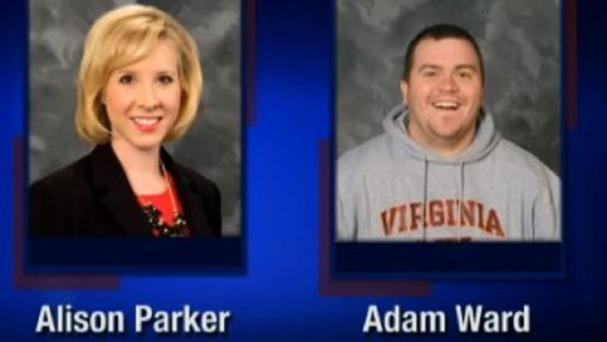 Screenshot from WDBJ-TV7, in Roanoke, of reporter Alison Parker and Adam Ward (WDBJ-TV7/AP)