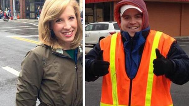Reporter Alison Parker and cameraman Adam Ward were fatally shot during an on-air interview in Virginia (WDBJ-TV/AP)