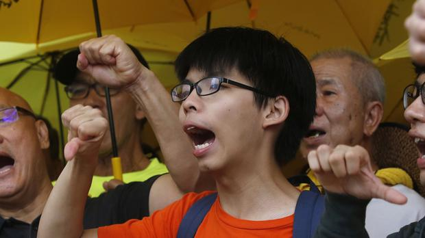 Student Joshua Wong has been charged for his part in Hong Kong's pro-democracy protests last year. (AP)
