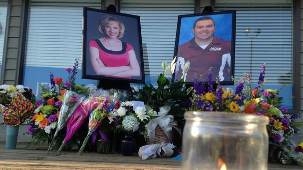 Alison Parker and Adam Ward were both shot dead live on air. (AP)