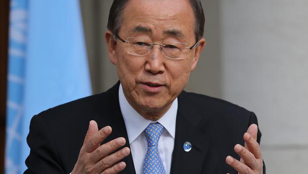 UN secretary general Ban Ki-moon wants to investigate the use of chemical weapons in Syria