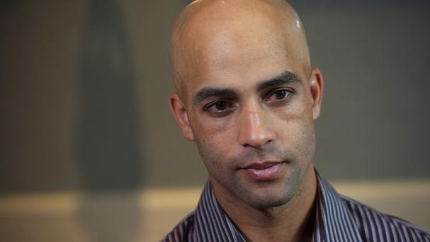 Former tennis star James Blake discusses his mistaken arrest by the New York City Police Department (AP)