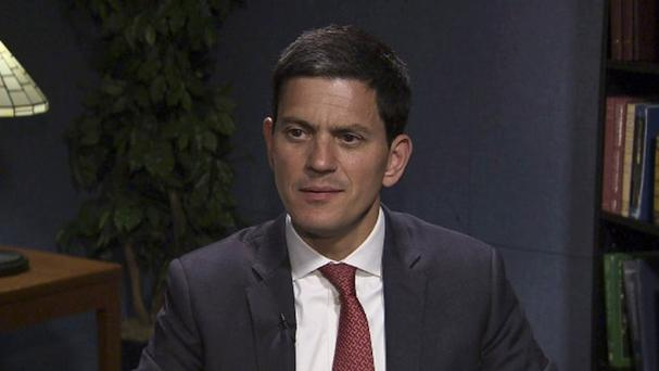 David Miliband said anyone with an ounce of morality will feel appalled by what is happening to refugees in parts of Europe