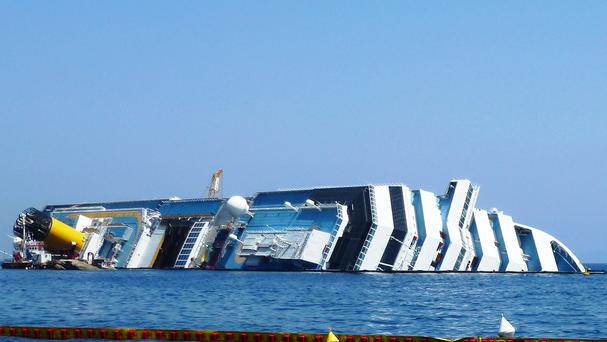 The Costa Concordia sank in 2012