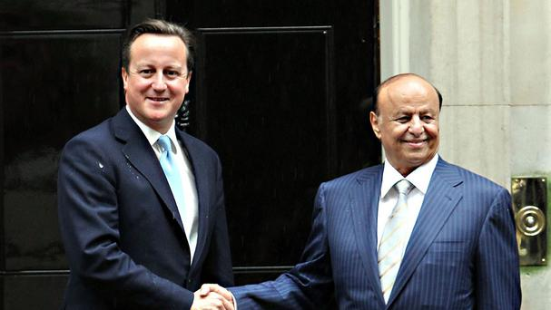Yemeni President Abdrabuh Mansur Hadi while on a visit to the UK