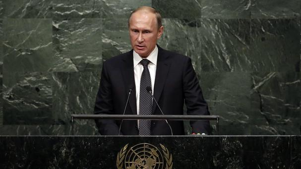 Russia's Vladimir Putin addresses the United Nations General Assembly. (AP)