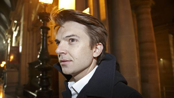 Pierre-Dimitri Gore-Coty, general manager for western Europe of Uber, arrives at the court house in Paris. (AP)