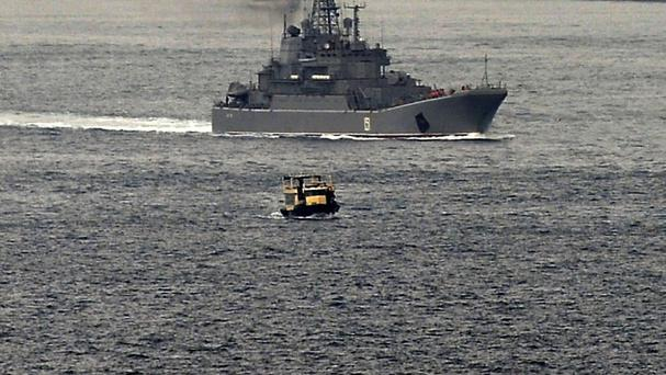 Russian warships are targeting IS in Syria (AP)