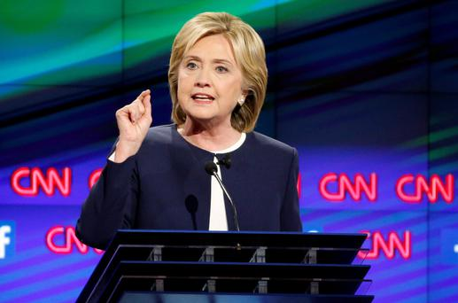 Mrs Clinton's main poll rival Bernie Sanders said: 'Let me say something that may not be great politics, but I think the secretary is right. The American people are sick and tired of hearing about your damn emails'