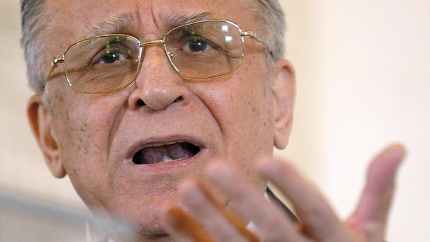 Ion Iliescu is being prosecuted for crimes against humanity. (AP)