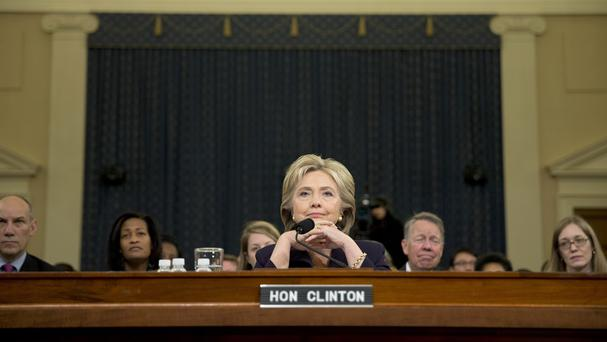 Hillary Clinton testifies in Washington. (AP)