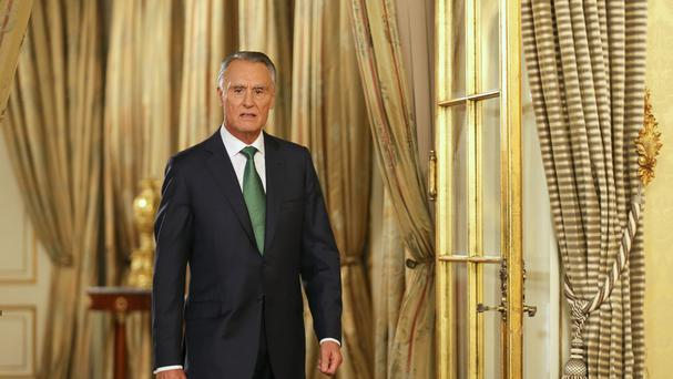 Portuguese president Anibal Cavaco Silva made a televised address