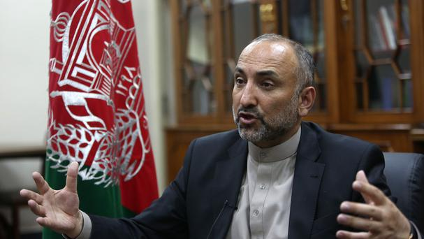 Afghan National Security Adviser Mohammad Hanif Atmar (AP)