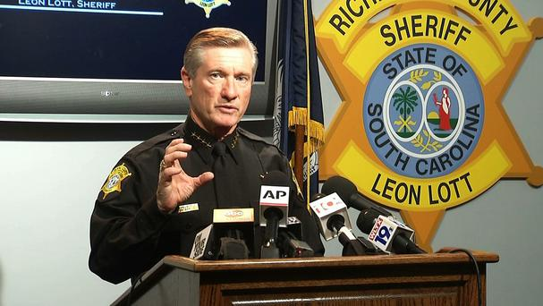Richland County Sheriff Leon Lott speaks during a press conference in Columbia (AP)
