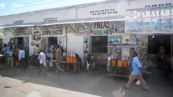 A street scene in Mogadishu, capital of Somalia which has been afflicted by violence