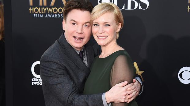 Mike and Kelly Myers have become proud parents (Invision/AP)