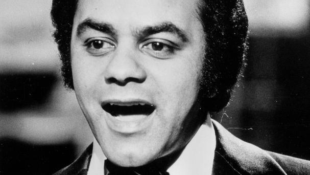 Singer Johnny Mathis in his heyday