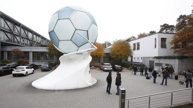 Authorities have searched the premises of the German football federation over payments made to Fifa in connection with the 2006 World Cup (AP)