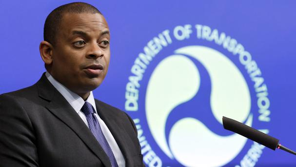US transportation secretary Anthony Foxx at a news conference about Takata airbags (AP)