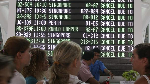 The airport closures affected 692 international and domestic flights. (AP)