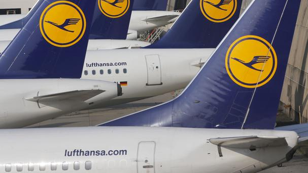 Lufthansa has cancelled numerous outgoing flights due to a cabin crew strike (AP)