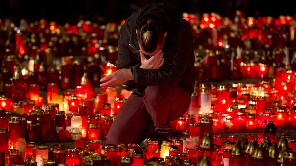 People marked one week since a the fire at the nightclub. (AP)