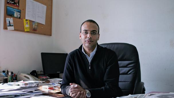 Hossam Bahgat is being held at an undisclosed location (AP)
