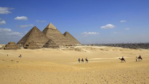 The pyramids in Egypt are over 4,500 years old