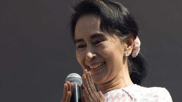 Aung San Suu Kyi predicted that her party will win enough parliamentary seats to form a government (AP)