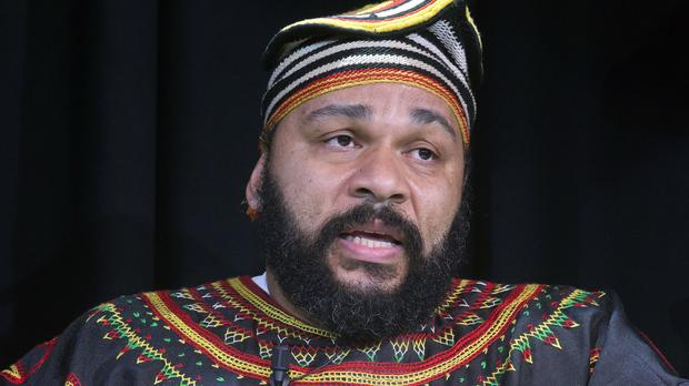 French comic Dieudonne M'Bala M'Bala ended a December 2008 show by inviting a prominent Holocaust denier on stage (AP)